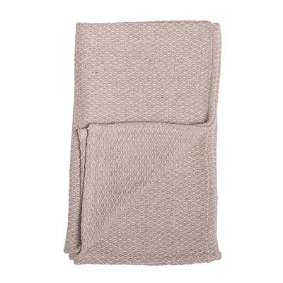 Stickad rosa filt från Bloomingville Mini