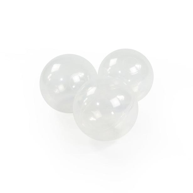 Meow Baby - Bollhav Ljusgrått med silver, pärlvita, vita och transparenta bollar