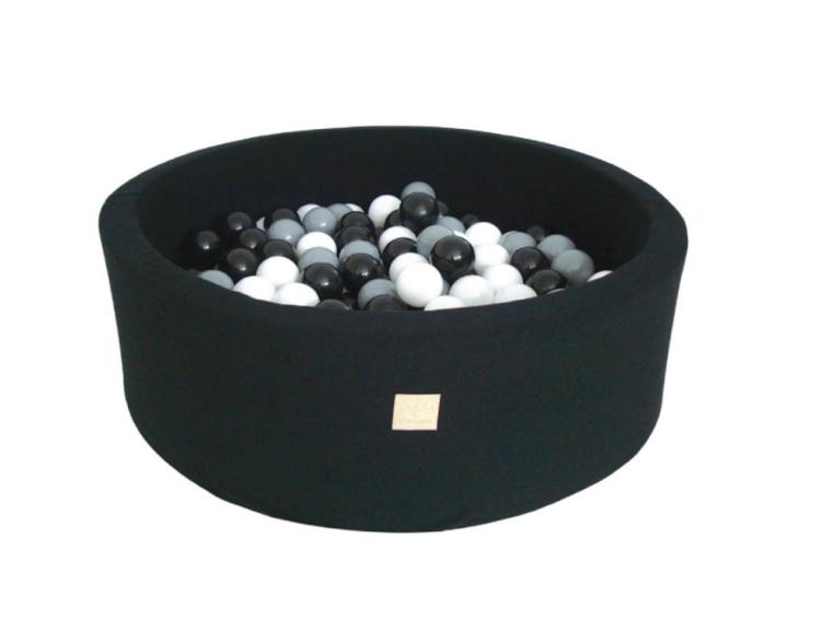 Meow Baby - Bollhav Svart med vita, gråa och svarta bollar