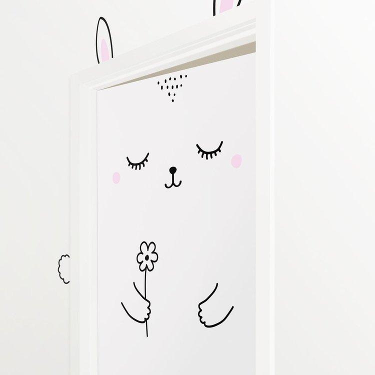 Stickers kanin till dörrar