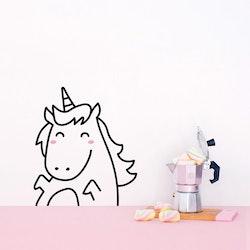 Made of Sundays - Stickers klistermärke Unicorn