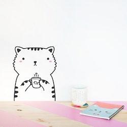 Made of Sundays - Stickers klistermärke Katt