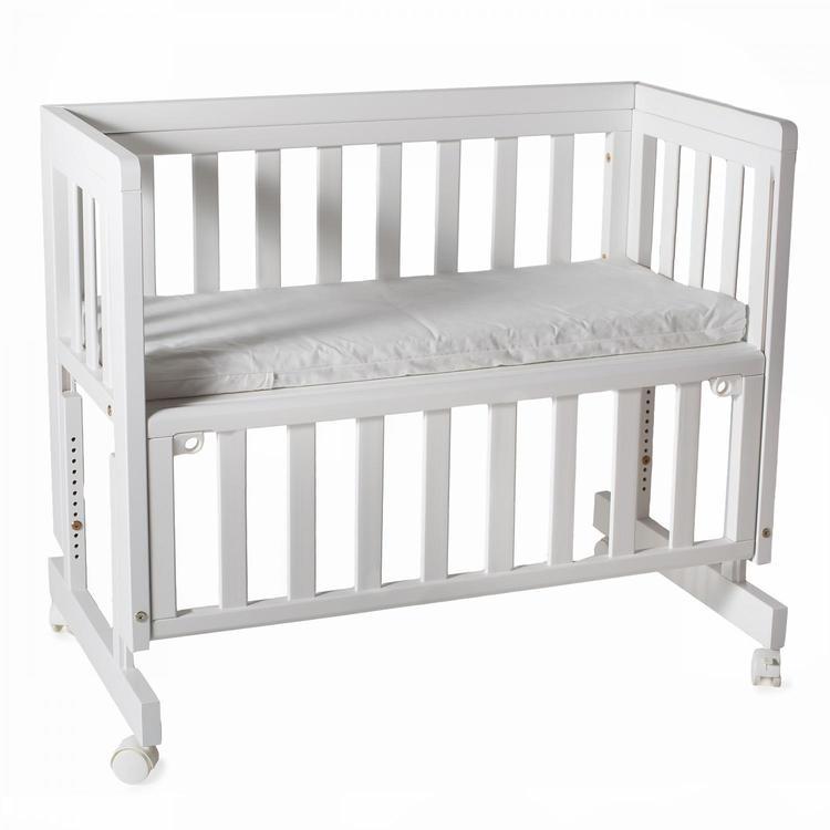 Troll Bedside Crib Vit tre i en säng för nyfödda spjälsäng babysäng barnsäng
