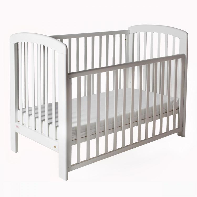 Troll Spjälsäng Lux Vit dropside babysäng barnsäng