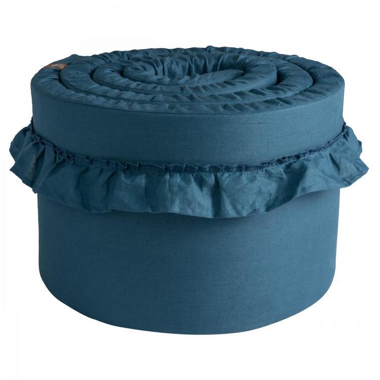 Spjälskydd tjockt i 100% linne från NGBaby Blå