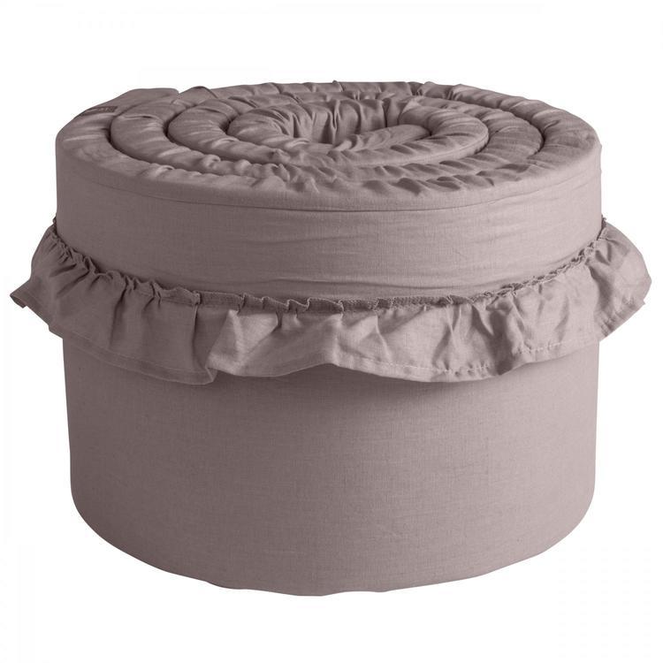 Spjälskydd tjockt i 100% linne från NGBaby Dusty Pink