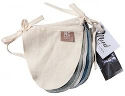 NG Baby - Vimplar rund färg Blå/grå