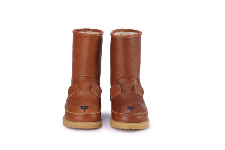 Fodrade barnkängor i läder