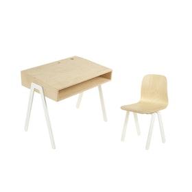 In2Wood - Barnskrivbord och stol vit