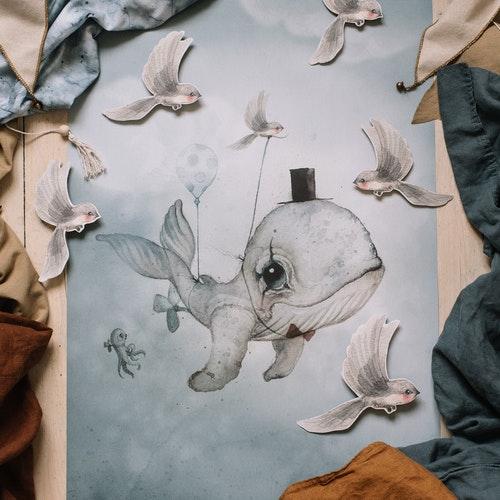Mrs Mighetto - Dear Whalie poster 50x70 cm
