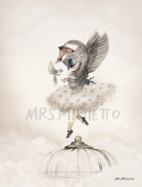 Mrs Mighetto -  Miss Annie/Miss Sofia 2-Pack poster 18x24 cm