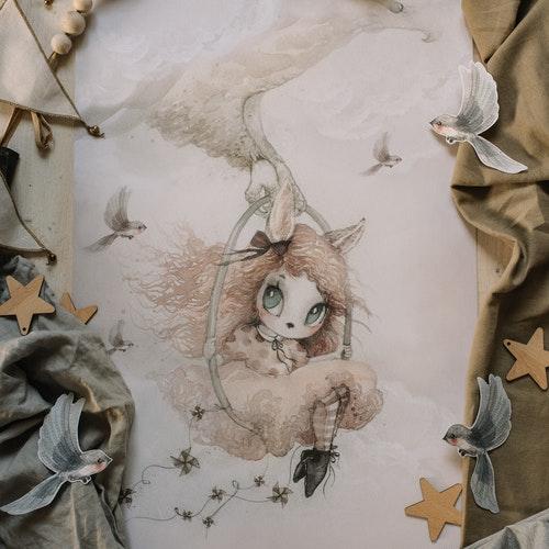 Mrs Mighetto - Miss Annie poster 50x70 cm