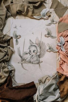 Mrs Mighetto - Mini Bird Master poster 50x70 cm