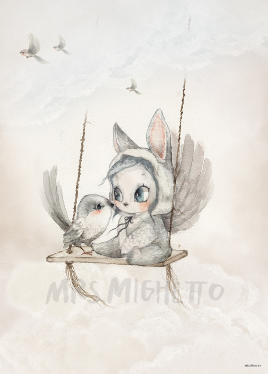 Mrs Mighetto - Mini Bird Master poster 50x70 cm