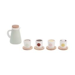 Kids Concept - Leksaksfika koppar och kaffekanna