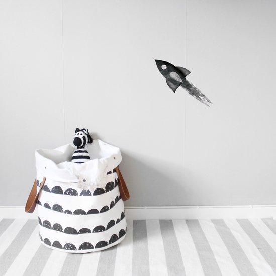 Stickstay - Mörkgrå/Svart raket