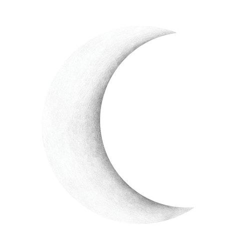 Stickstay - Halvmåne vit
