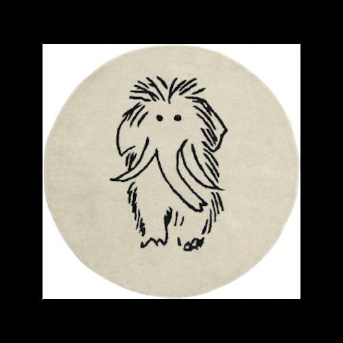 Kids Concept - Ullmatta mammut Neo Svart/Vit