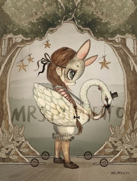 Mrs Mighetto - Miss Edda Mini poster 18x24 cm
