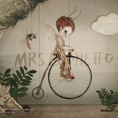 Mrs Mighetto - Mr John Mini poster 24x18 cm