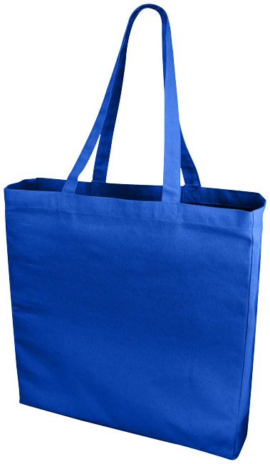 Shoppingkasse bomull royal blue