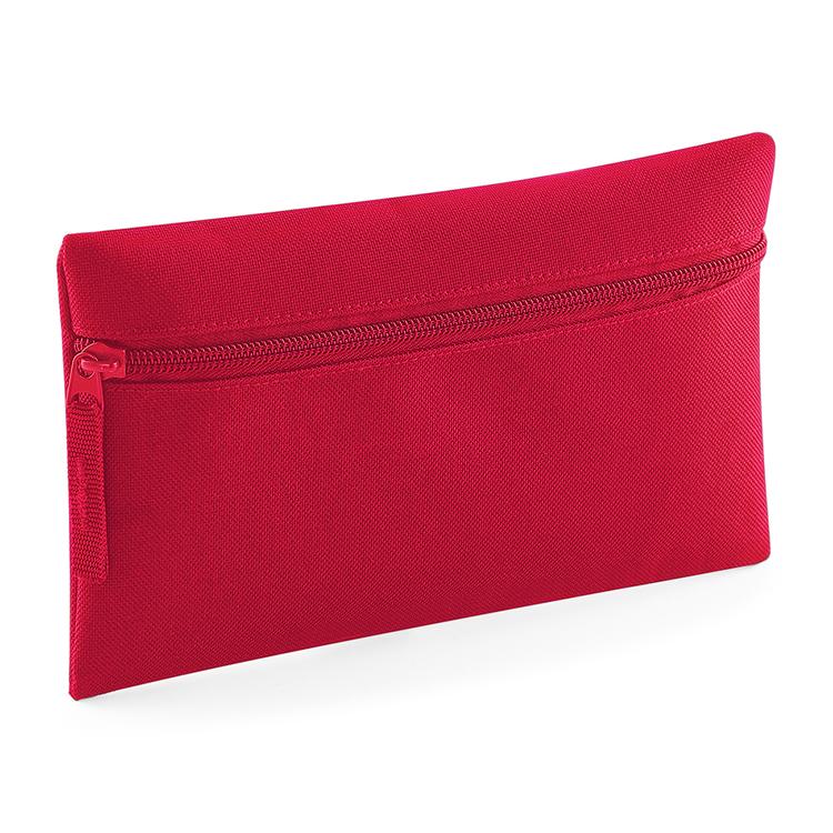 Rött pennfodral med dragkedja