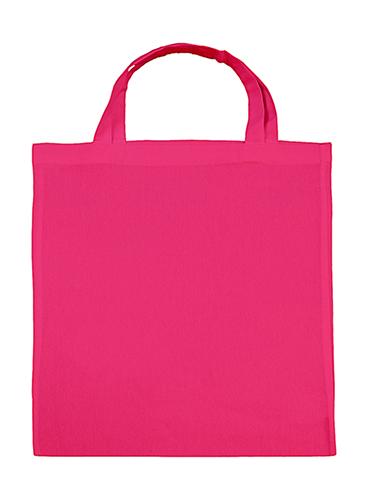 Tygkasse med korta handtag, rosa