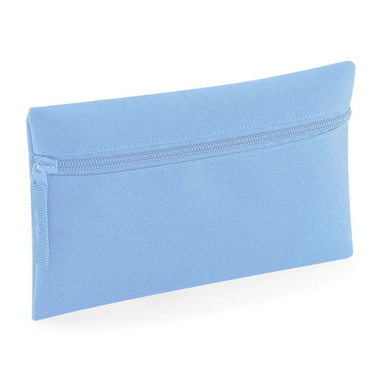 Ljusblå pennfodral med dragkedja
