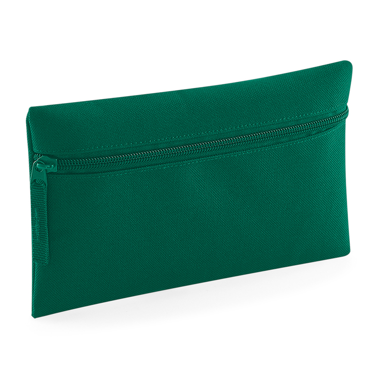 Grön pennfodral med dragkedja