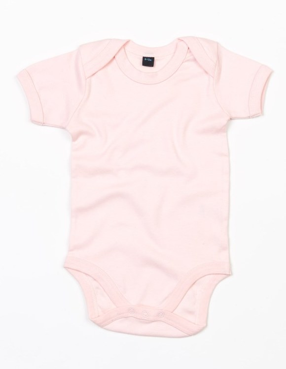 Babybody kortärmad, puderrosa