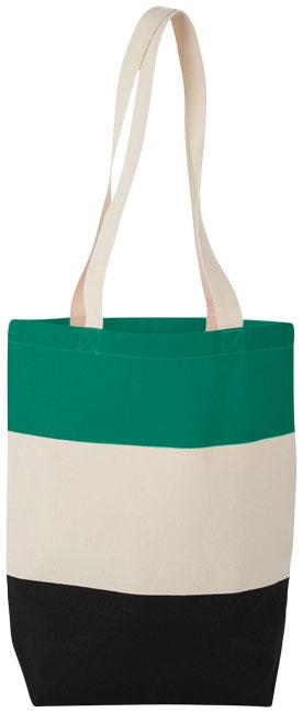 Colorblock tygkasse, grön