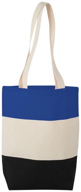 Colorblock tygkasse, blå