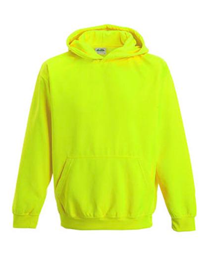 Hoodie barn, neonfärger