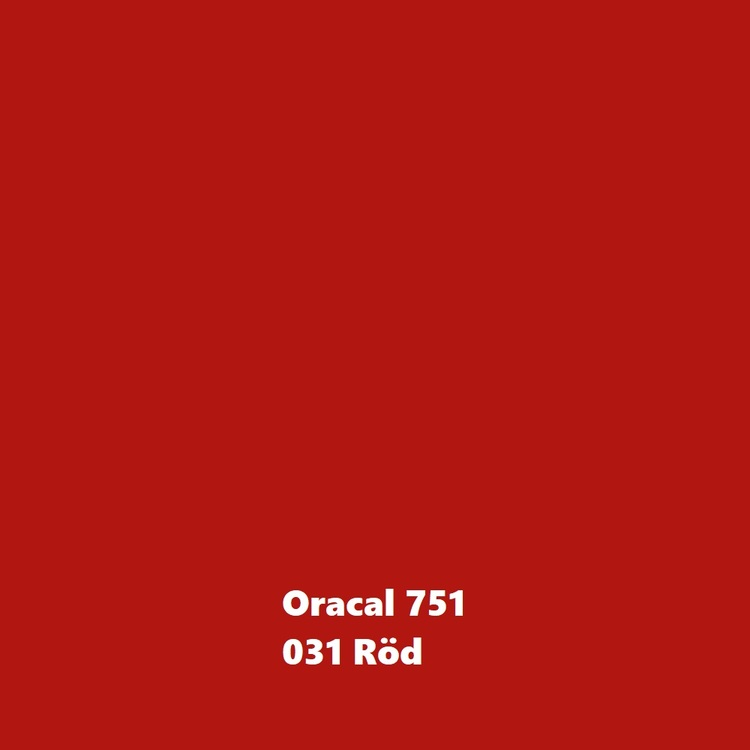 Oracal 751, Röd