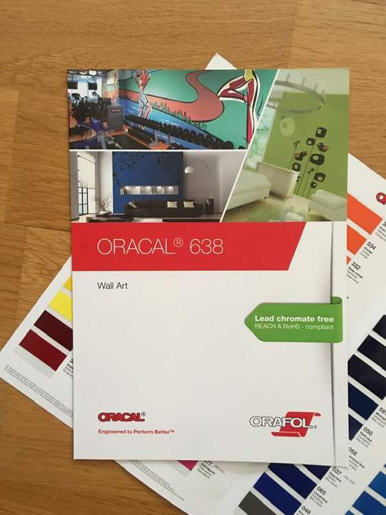 Färgguide Oracal 638 (väggvinyl)
