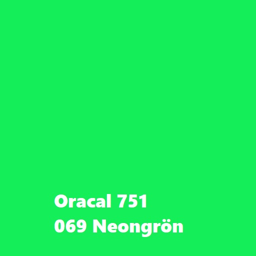 Oracal 751, Neongrön