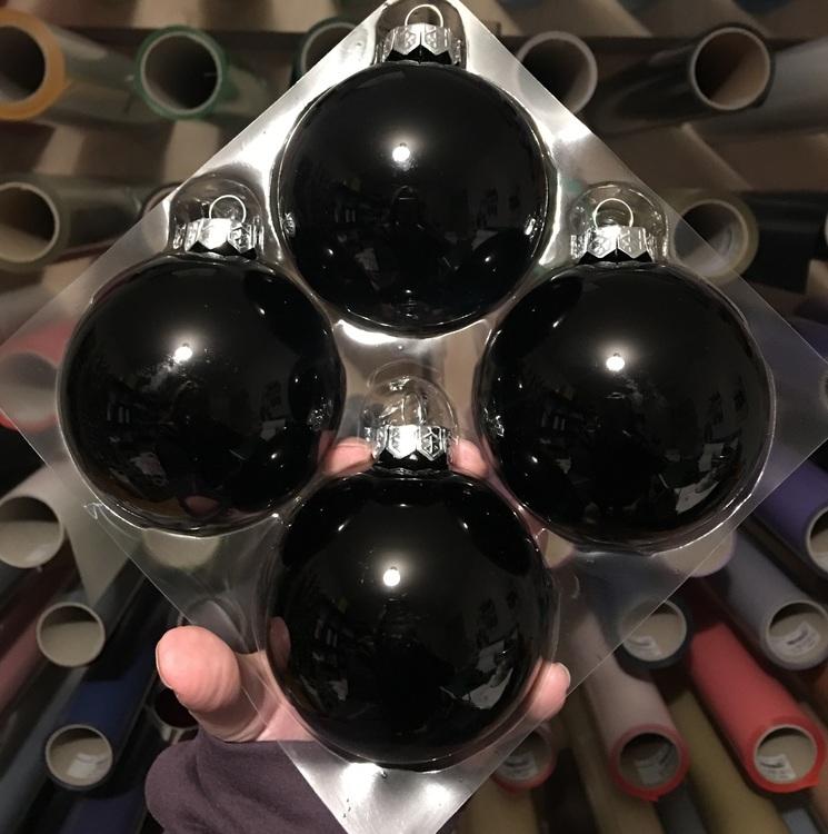 Färgade glaskulor, 8 cm