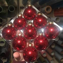 Färgade glaskulor, 6 cm