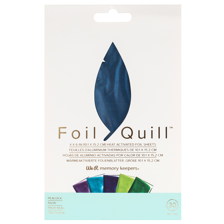 Foil Quill Sheet-pack, Peacock