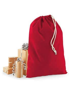 Röd tygsäck / tomtesäck