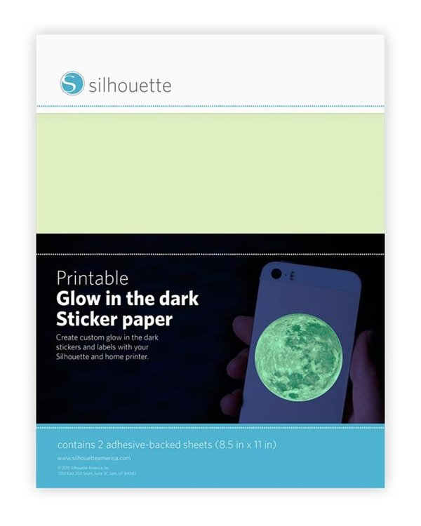 Silhouette Sticker Glow in the dark