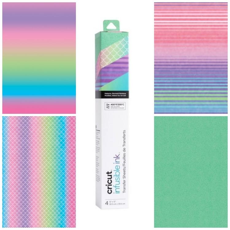 Infusible Ink Transfer Sheet, Mermaid Rainbow