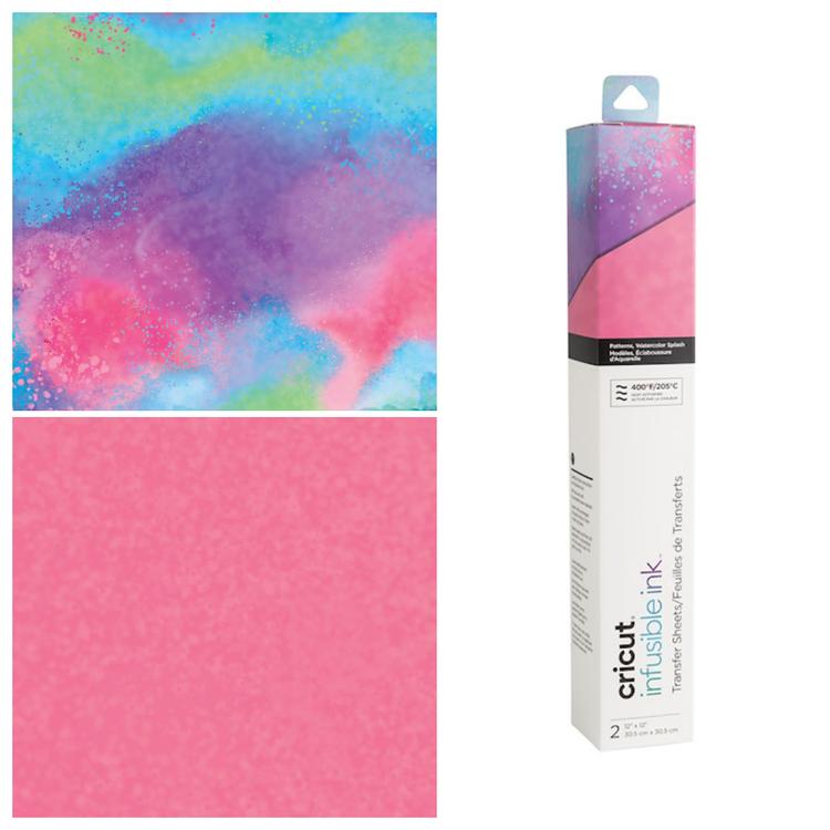 Infusible Ink Transfer Sheet 2-pack, Watercolor Splash