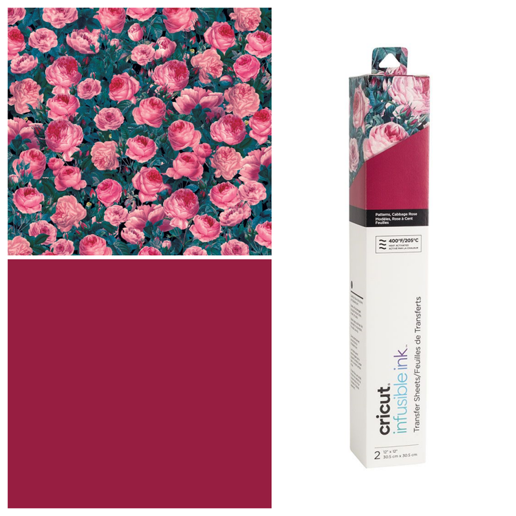 Infusible Ink Transfer Sheet 2-pack, Cabbage Rose