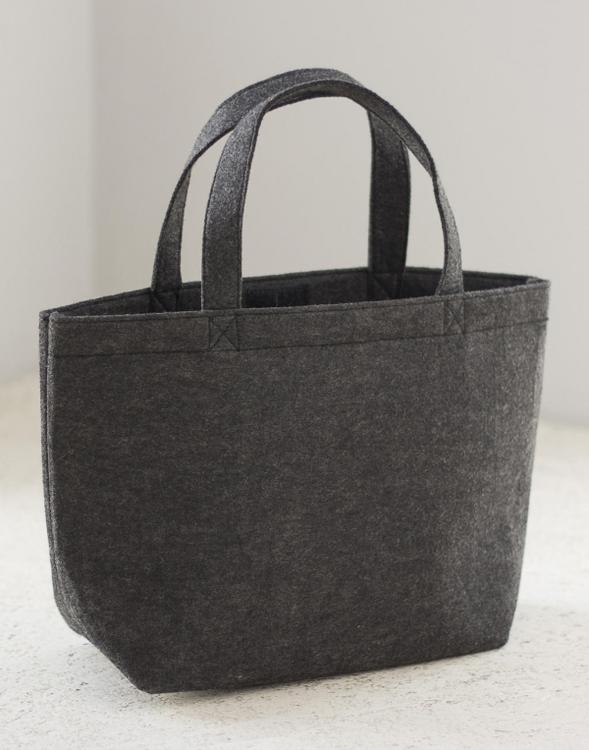 Filt shopper small, mörkgrå