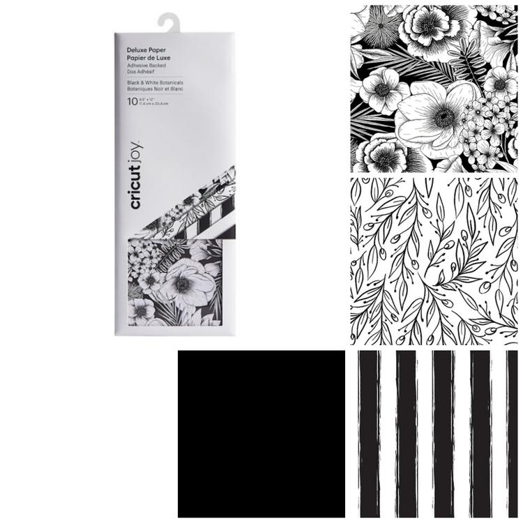 Cricut Joy Deluxe Paper, Black&White Botanical