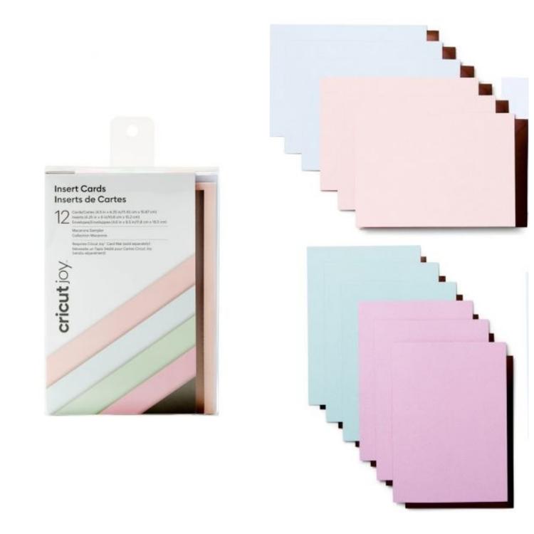 Cricut Joy Insert Card XL, Macaroons (12-pack)