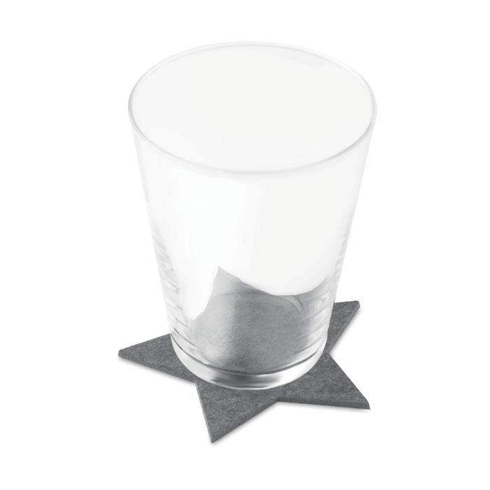 Glasunderlägg filt 4-pack