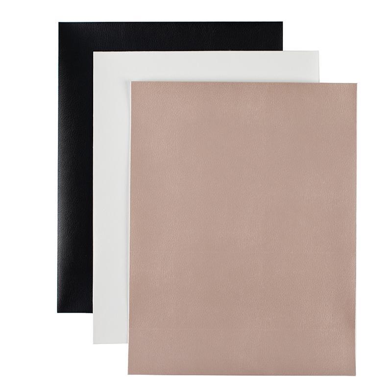 Silhouette Leatherette Sheets, svart, cream och champagne