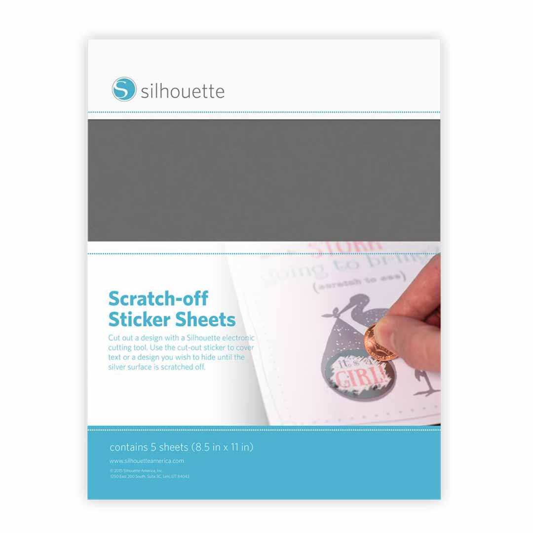Silhouette Scratch-off stickers, Silver